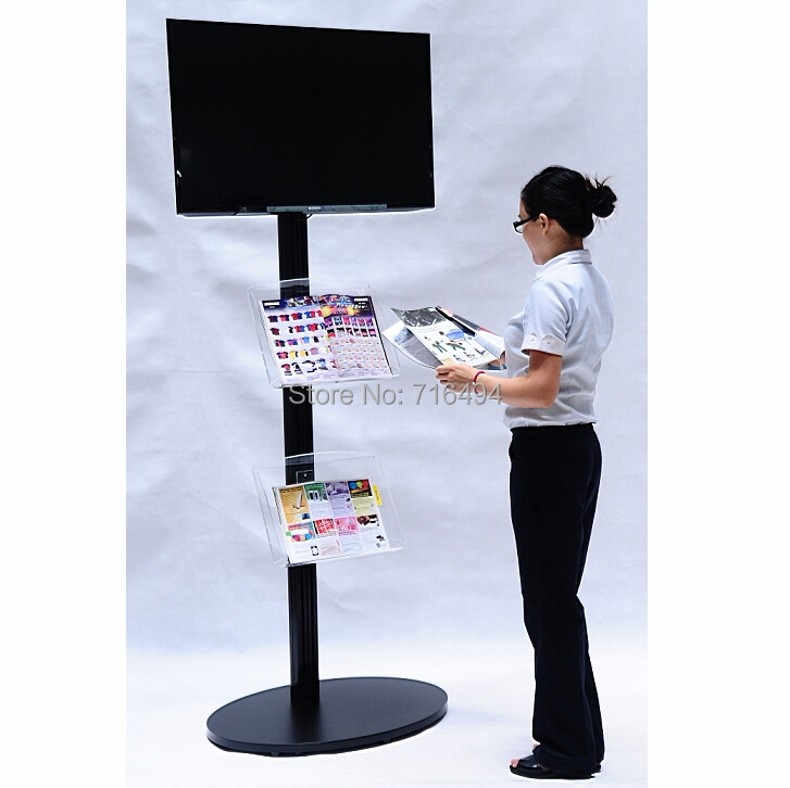 Buy TV Floor Stand Fits17u0026quot; To 72u0026quot; Monitors/makes Your Extra Tall TV  Stand Portable/trade Show/ Plasma Or LCD Tv Stand/Black In Cheap Price On  ...