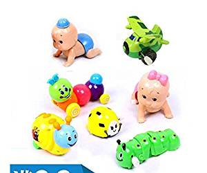 5PCS Wind-Up Toys Cute Infant baby pull Cochain Small toys Frog Caterpillars Crawling baby toys Plastic Clockwork Wind-up Toy