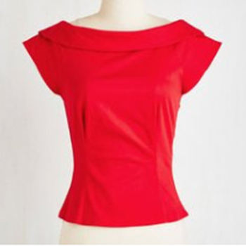 red tops for women