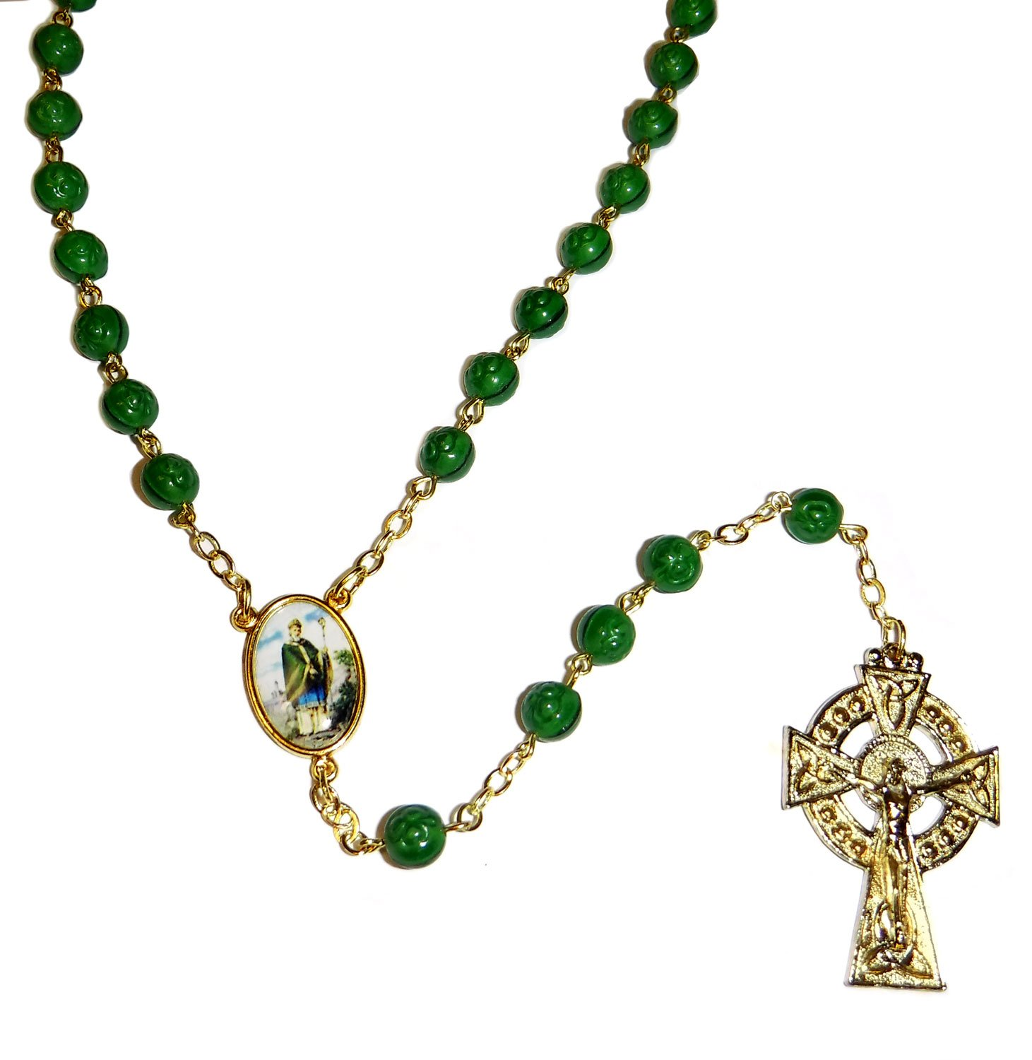 "23""L Celtic Cross Irish Rosary by Roman"