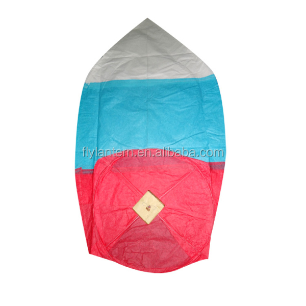 2014 biodegradable sky flying paper lantern with metal free for wedding decoration