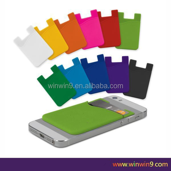 100% pure silicone,Silicone Material and Credit Card Use mobile phone case card holder wallet