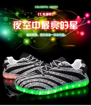 New Style Colorful Running Sport/Casual Changeable Color light up adults led shoes led shoes led clignote chaussures Girls Prin