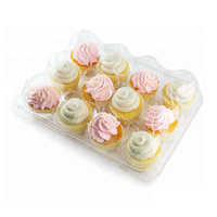 Wholesale Clear Plastic 12 Cupcake Boxes Packaging