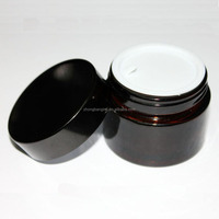 wholesale glass material custom clear cosmetic jar for makeup