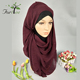 Fashionable 180*90cm women cotton blanket pleated muslim crinkle scarf hijab