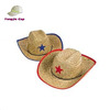 kids straw cowboy hats with star