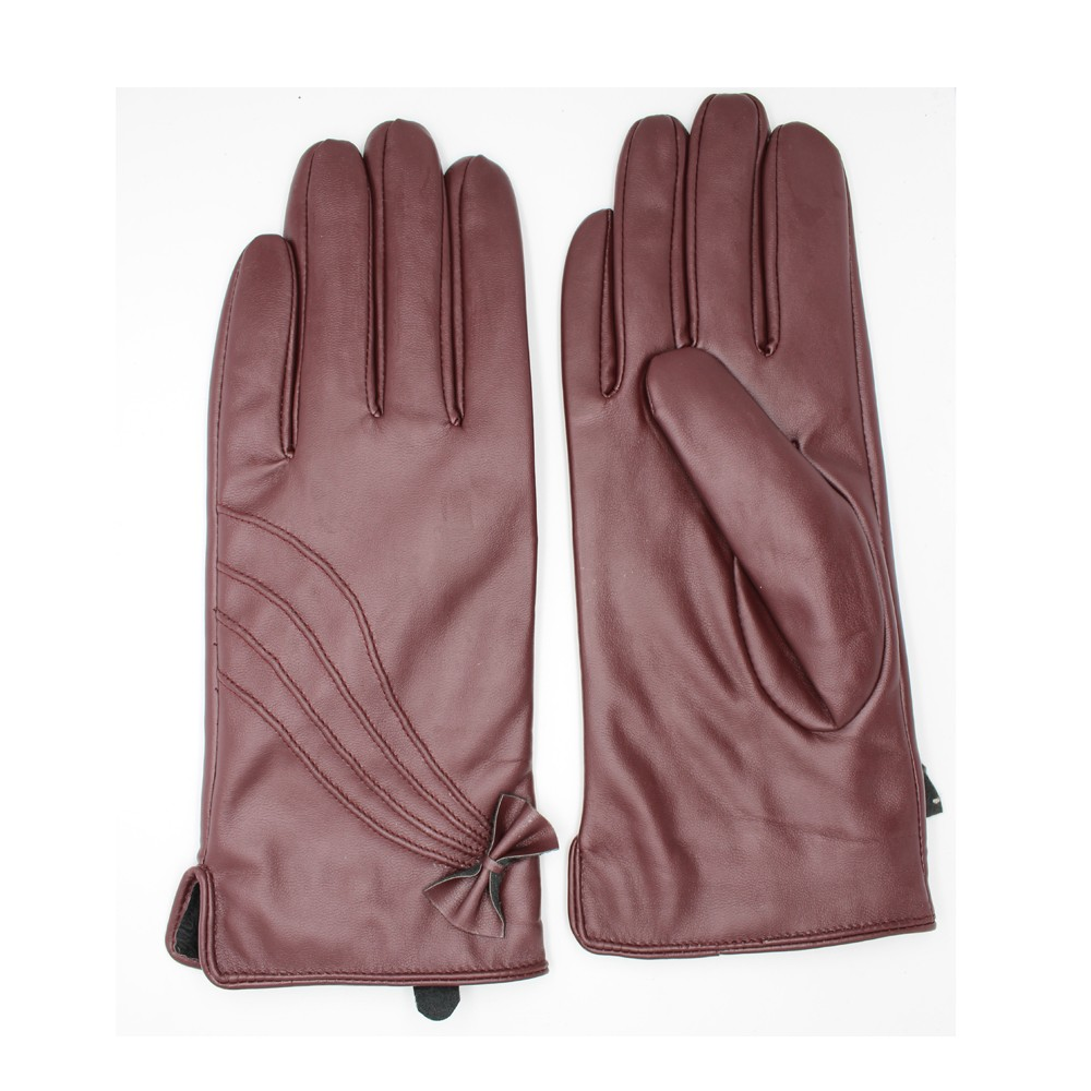 women's Quilted Back Hairsheep Leather Gloves