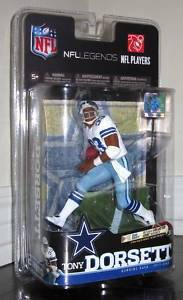 McFarlane Toys NFL Legends Series 6 - Tony Dorsett White Jersey Dallas Cowboys Action Figure by Unknown