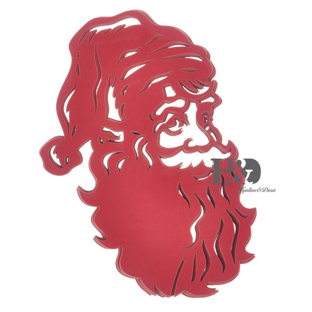 Buy 120PCS Red Laser Cut Hollow out Santa Claus Paper Place Card ...