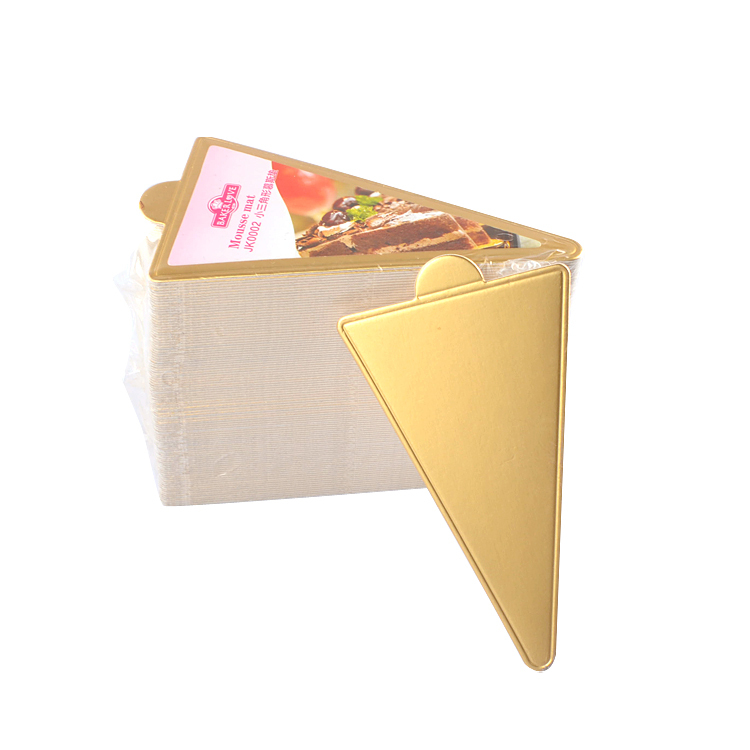JK0002 Golden Small Triangle Mousse Mat Paper Base Pad Cake Cardboard Base