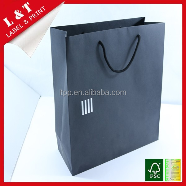 Animal printed paper package bag with hang tag