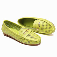 New design 2016 spring and autumn casual shoes fashion pu loafers shoe for women
