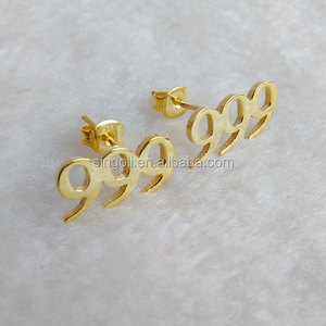 Custom Number Personalized Initial Stud Earrings Letter Stud Earring