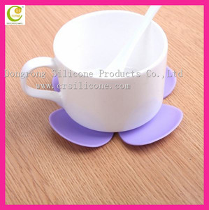 Promotional Family Drink Silicone Hot Cup Holder/Custom Rubber Coaster/Soft PVC Cup Coaster for Promotion Use