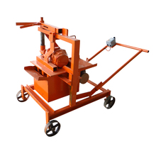 Small scale electric cement brick forming making machine