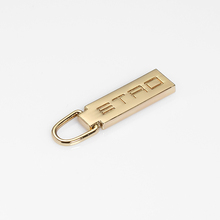 Custom Zipper Pulls Metal Zip Puller with high quality logo concave pullers