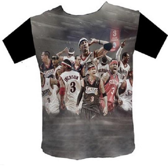 902fd24c6 Get Quotations · NBAT - shirt t-shirt tees 76er basketball star Alan and Allen  Iverson short sleeved