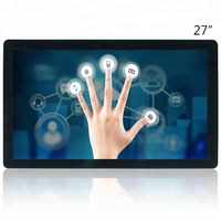 JFCVision 27 inch capacitive touch screen with 2-glass solution technology for digital signage kiosk