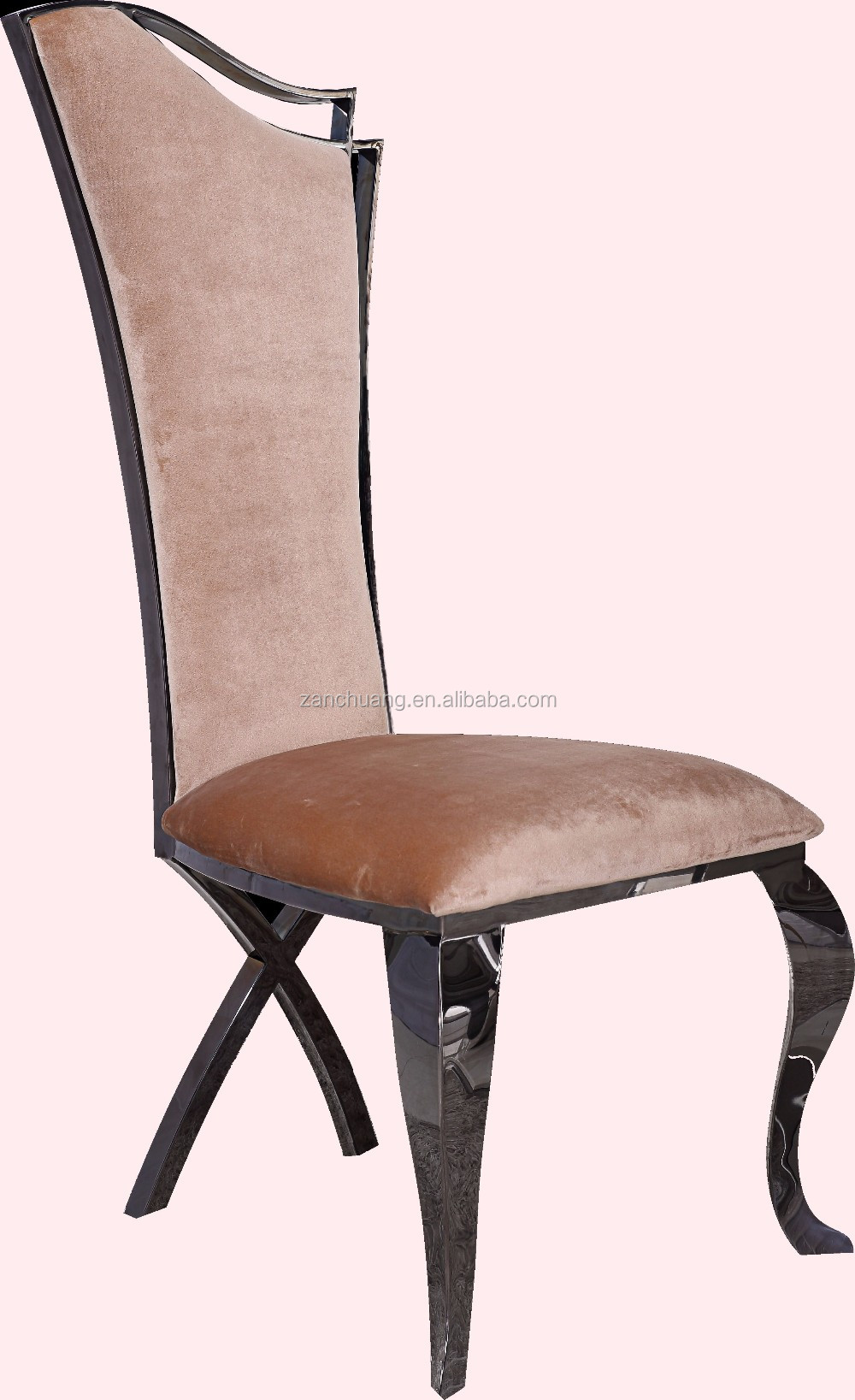 High Back Comfortable White Genuine Leather 4 Chair Dining