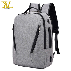 China BSCI New Models School Laptop Backpack Bag With Password Lock