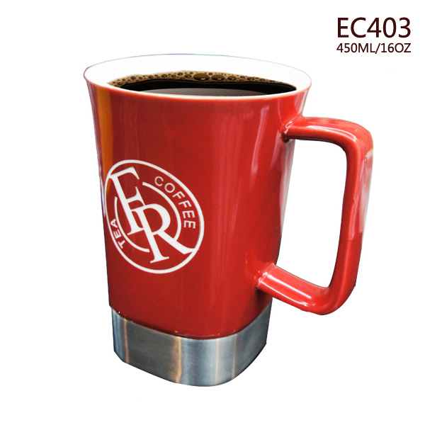 Wholesale promotion 16oz custom colored coffee mugs ceramic cup factory