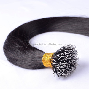 High quality double drawn nano ring human hair cold fusion hair extensions