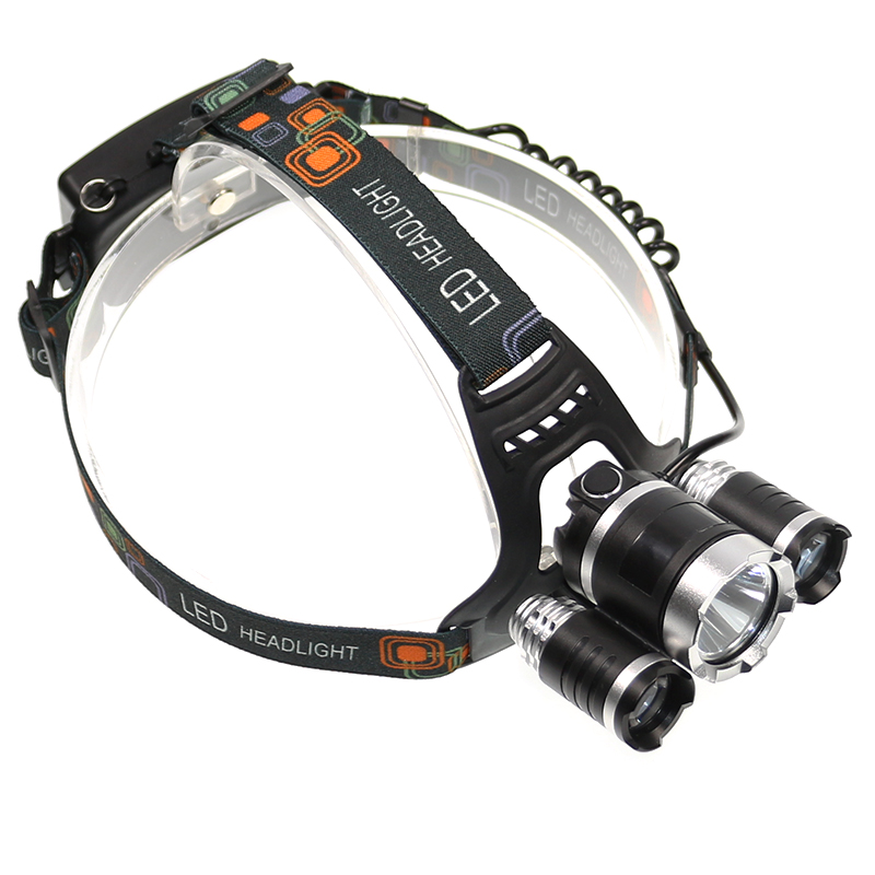 Led Spotlight Headlamp: Waterproof CREE XM L T6+2 *t6 LED Tactical Headlight