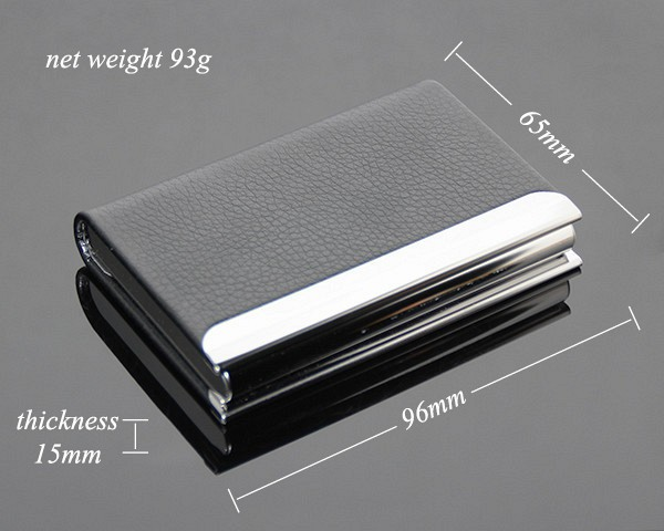 Unisex Colourful Leather Wallet Business ID Card Box For Men Women Card Case Wholesale Leather Card Holder