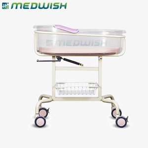 Transparent and hi-intensity baby basin height adjustable medical baby crib hospital equipment for adults care nursing infant