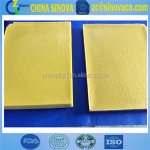 Raw beeswax material for polishing wax