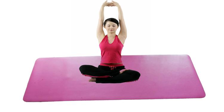 In più Non Slip mat Yoga con Allineamento Linee Eco-Friendly In Gomma per Hot Yoga e Bikram o di Viaggio di Yoga di forma fisica mat