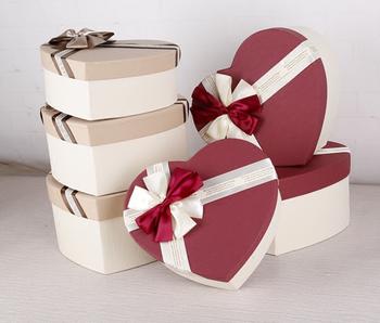 China Supplier Valentine S Day Cardboard Chocolate Box Heart Design