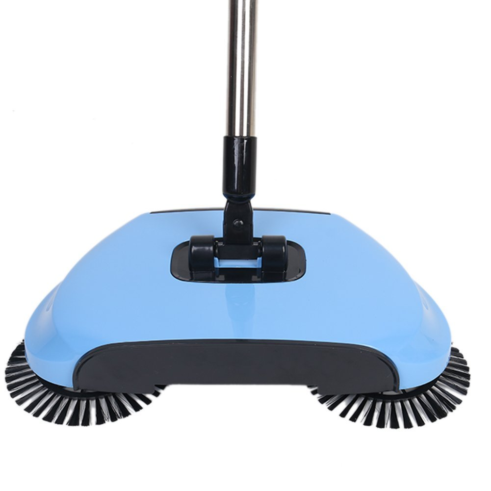 Get Quotations · Sweeping Machine Hand Push Home Vacuum Cleaner Without  Electric Broom Sweeping Broom Suit (blue)