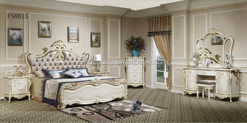 2015 fran ais style baroque de luxe couvert chambre coucher europ enne en bois sculpture. Black Bedroom Furniture Sets. Home Design Ideas