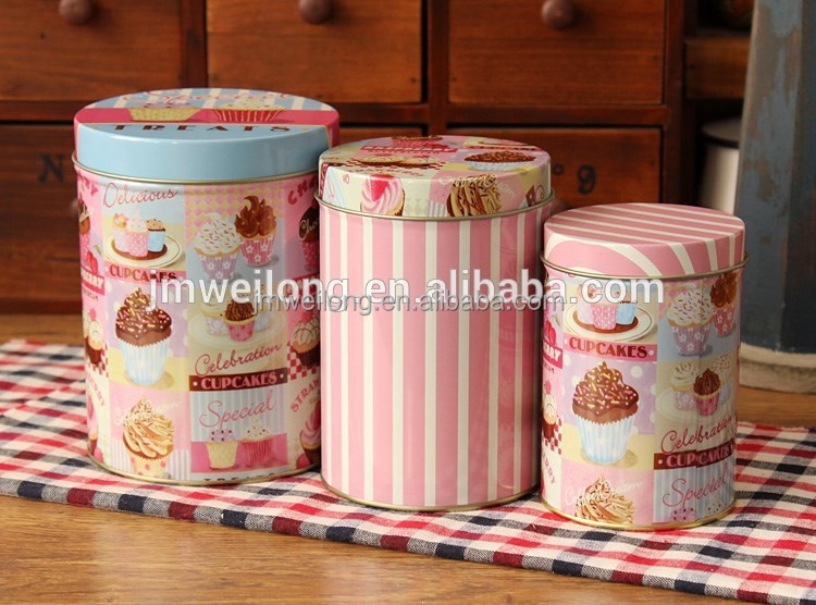 Promotional colorful kitchen Tea Coffee Sugar canister sets
