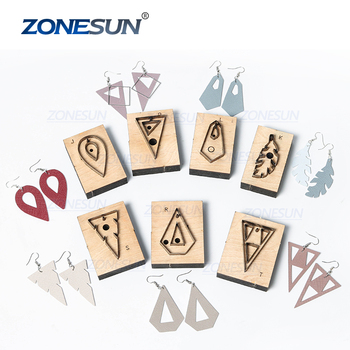 ZONESUN Leather Earring Cutting Die Clicker Steel Rule Die Leather Decoration Tool For Die Cutting Machine DIY Handicraft Cutter
