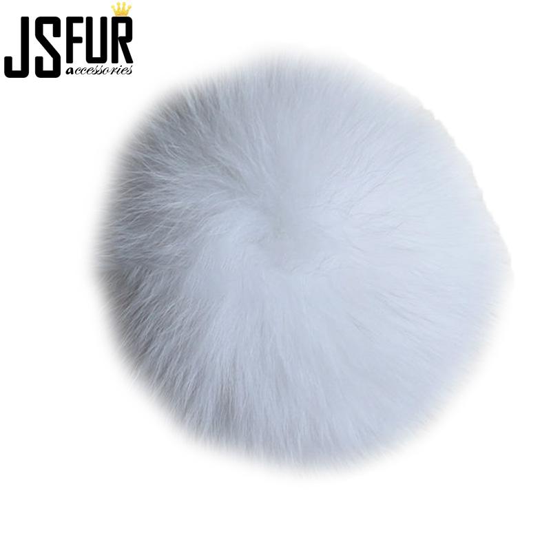 Wholesale White 10cm Fox Fur Balls For Hats Clothing Accessories ... 044ecab786cb