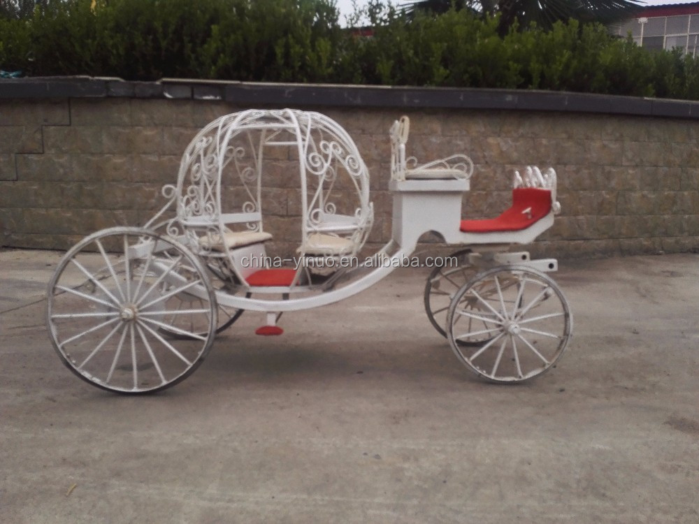 Handmade steel small pumpkin carriage for decoration