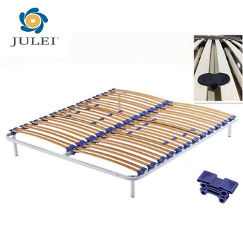 Strengthen Wooden Slats Folding Metal Bed Frame Dj-pw04 - Buy ...