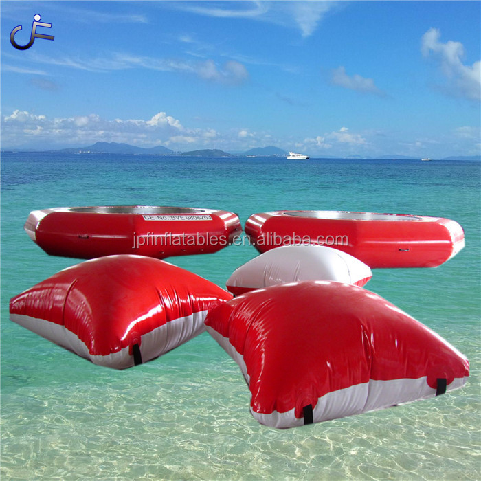 Summer water park toys custom mini size inflatable jumping pillow / inflatable blob jump