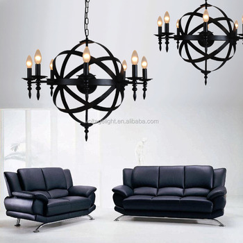 Exquisite modern classic industrial black iron candle chandelier exquisite modern classic industrial black iron candle chandelier from china supplier for restaurant aloadofball Images