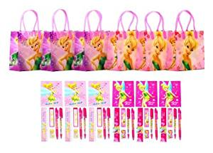 Disney Fairies Tinkerbell Party Favor Stationery Set - 6 Packs (42 Pcs)