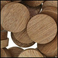 "WIDGETCO 1"" Mahogany Wood Plugs, Face Grain"