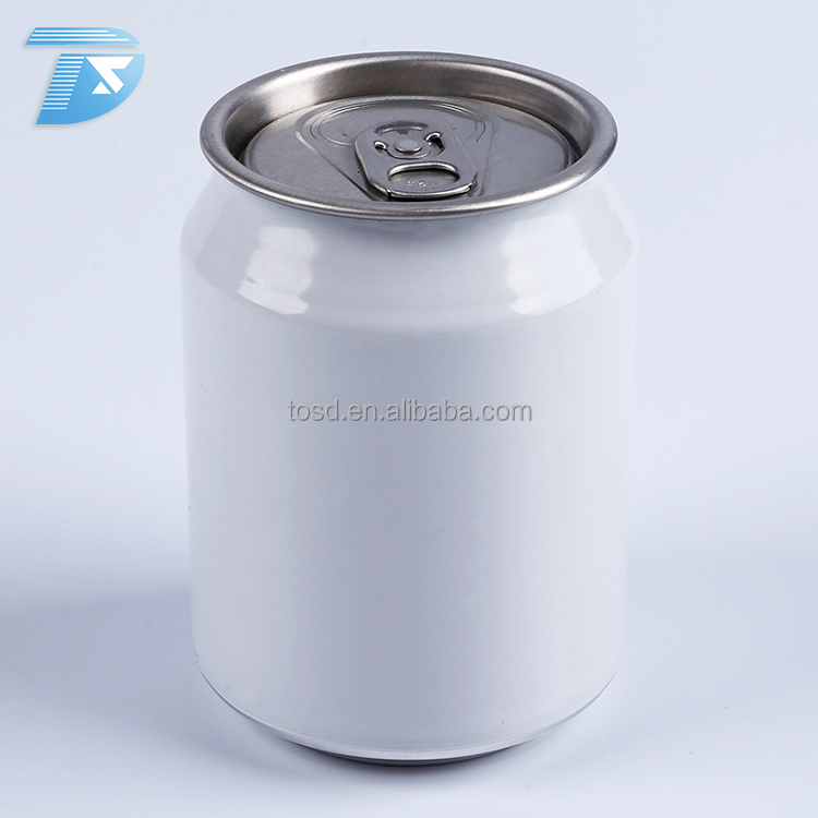 250ml stubby Customized energy drink cans for soft drinks empty aluminum beverage can printing
