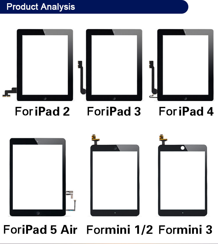 Factory wholesale LCD Digitizer for iPad 6 Air 2 A1566 A1567 display