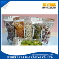 Plastic printed pistachio nuts packaging pouch/ walnuts packing bag/ cashew nut stand up pouch with zipper