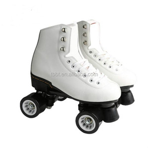 BIGBANG top quality PU leather EU standard 4 PU wheels skate rink double roller skate for sale