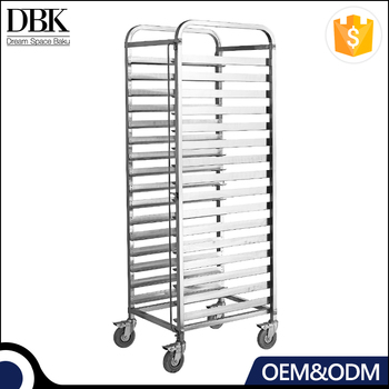 kitchen appliance full stainless steel Buffet Tray Rack/Baking Cake Pans Trolley / Bread Tray Shelf Rack