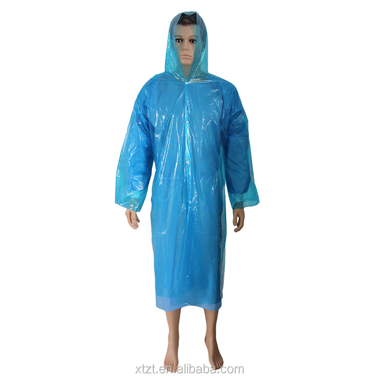Branded fancy shiny disposable raincoat